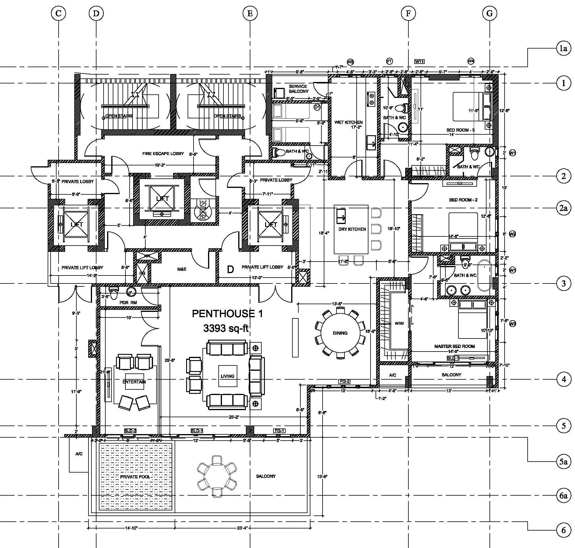 interior design with floor plan